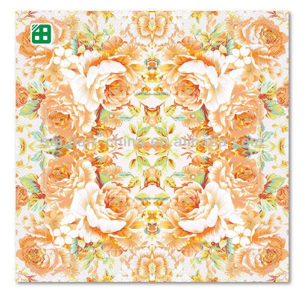 elegant peony flower print paper decorative napkins - Decorative Paper Napkins