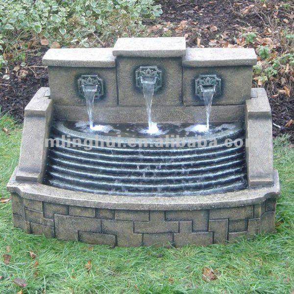 Nachahmung Steine 3 Wasserfall Garten Wand Brunnen Stein