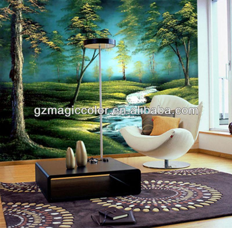Paisajes para paredes vinilo decorativo de un paisaje for Vinilos murales paisajes