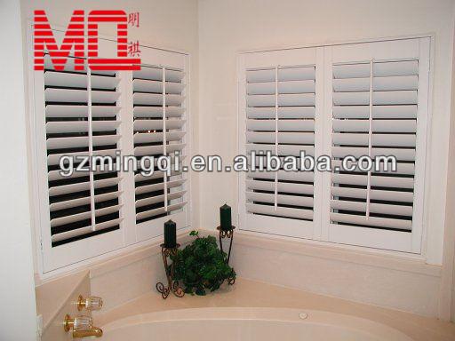 Aluminium shutter blinds windows aluminium interior security shutters with rotary switch lock for Metal window shutters interior