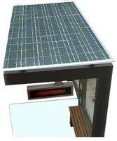 Prefab Soalr Bus Sheltermodern Solar Bus Stop Shelter Design