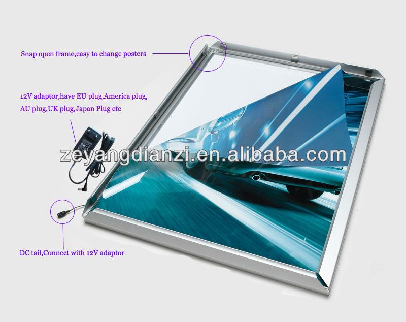 acrylic sheet snap aluminum led advertising light box smd2835 led lightsuper bright aluminum photo framesnap open acrylic light guide panel