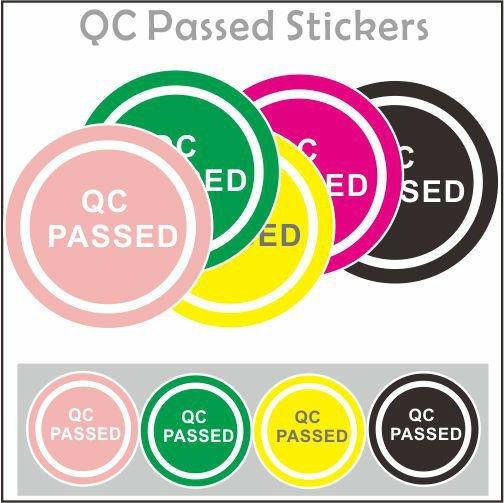 Die Cut Vinyl Stickers Custom Inspection Labels Adhesive