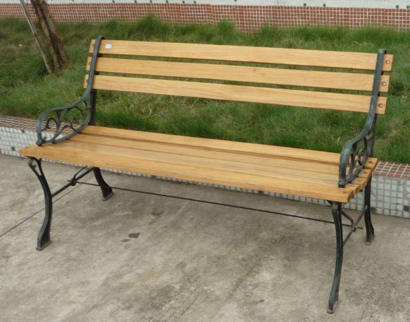 Bench 8 Part - 42: 8 Slats Cast Iron Park Bench
