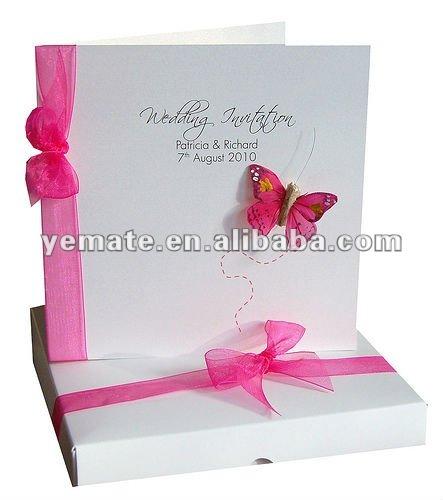 New 2012 Paper Handmade English Wedding Invitation CardFolding – Folding Invitation Cards