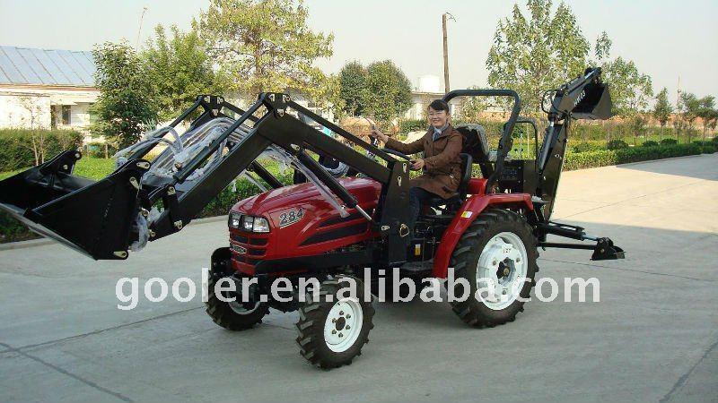lz284 mini traktor mit frontlader und bagger buy traktor. Black Bedroom Furniture Sets. Home Design Ideas