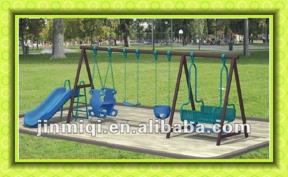 Jmq 25711kids Indian Metal Swing Sets Plastic Slide Swing