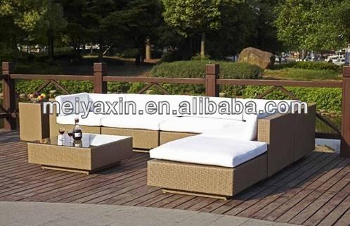 Garden Furniture Hotel Patio Furniture Sofa Set Rattan Sleeper Sofas