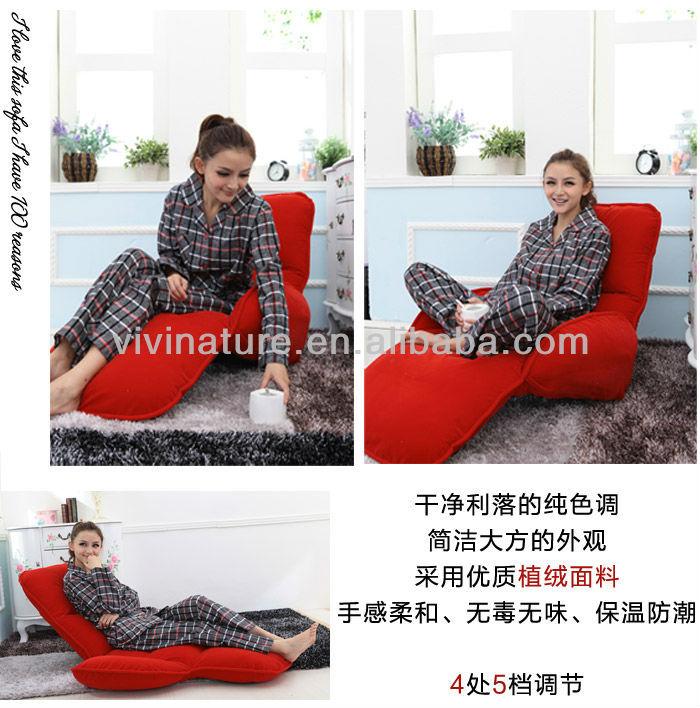 Folding Floor Chair With Armrest Legless Sofa