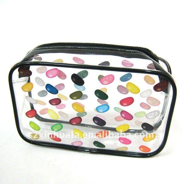 (XHF-PVC-041) clear pvc small bag clear pvc bag packing travel kit bag
