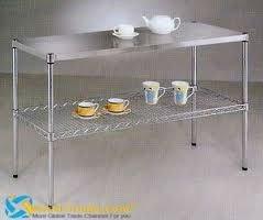 Acero Inoxidable 304 Despensa Mesa Para Cocina O Hotel - Buy Mesa De ...