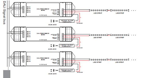 one channel 10a dali dimming signal 12v 24v led strip dali