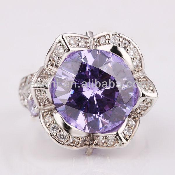 2014 classic light purple diamond wedding rings for women - Purple Diamond Wedding Ring