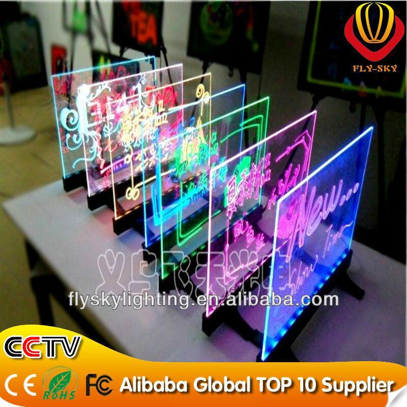 Hot Sale Custom Promotion Advertising Acrylic Led Display Board ...