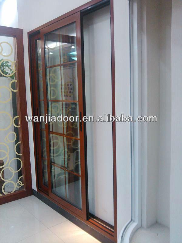 Horizontal blinds sliding glass doors aluminum multi track for Multi track sliding glass doors