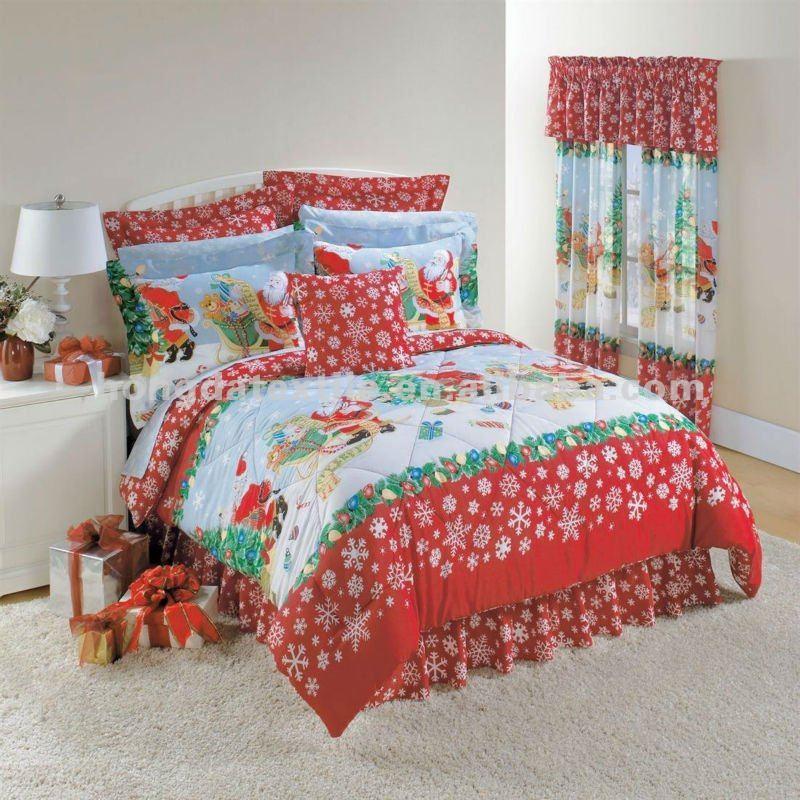 100% Cotton Printed Christmas Tree Bedding Sets - Buy Christmas ...