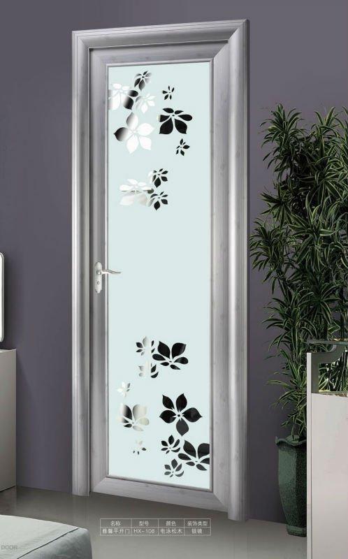 Interior Toilet Design Double Glazed Panel Aluminum Door