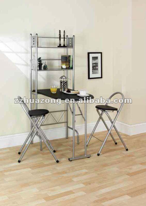 Bekend Opklapbare Eettafel En Stoelen/werkplek Met Opslag - Buy Metalen NU17