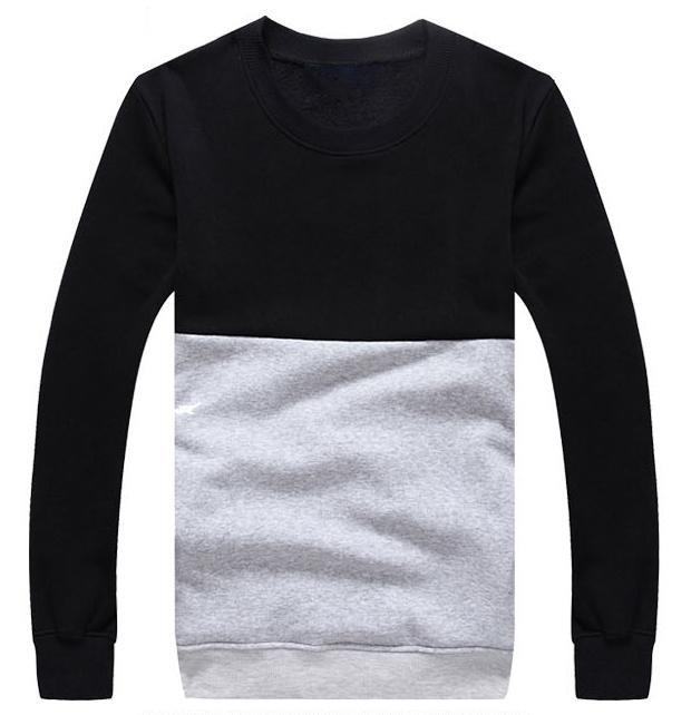 Wholesale Custom Mens Crewneck Two Tone Sweatshirts