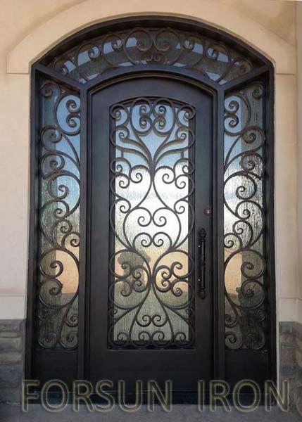 Forg portes de fer unique portes d 39 entr e avec imposte for Miroir tunisien
