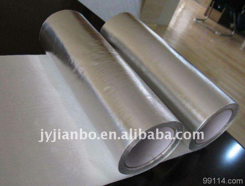 Aluminum Foil Fiberglass Cloth Fire Resistant Insulation