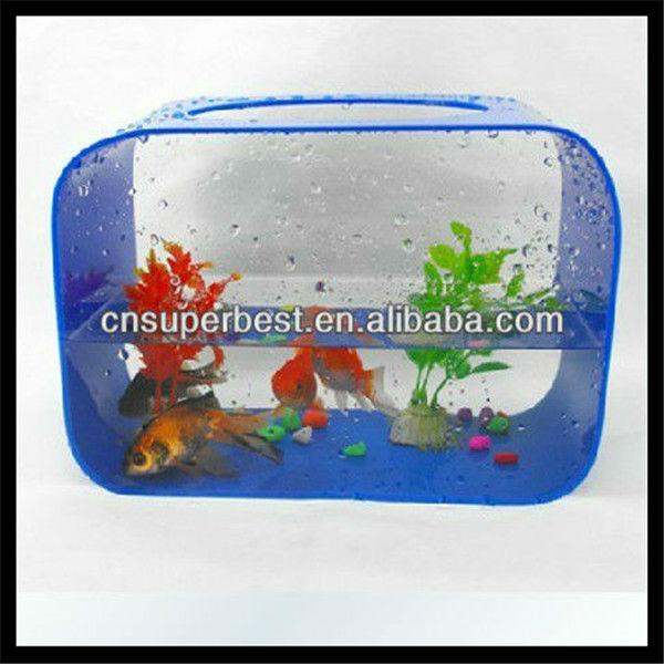 Modern clear cylinder acrylic ornamental fish tank view for Ornamental fish tank