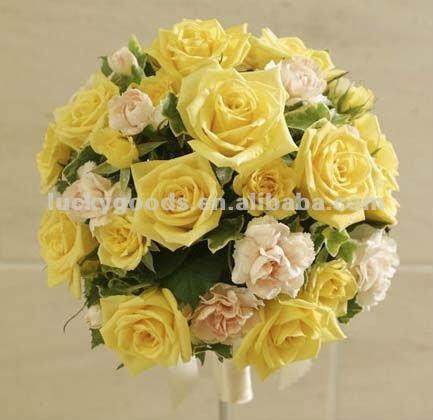 Romantic champagne silk wedding flower ballkissing ball buy romantic champagne silk wedding flower ball kissing ball mightylinksfo