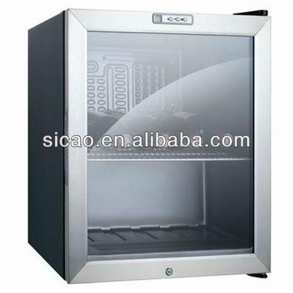 49litres Glass Door Mini Bar Refrigerator Hotel Mini Bar