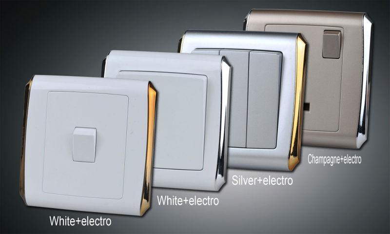 New Model 2 Gang 1 Way Big Rocker Electric Switch Mk