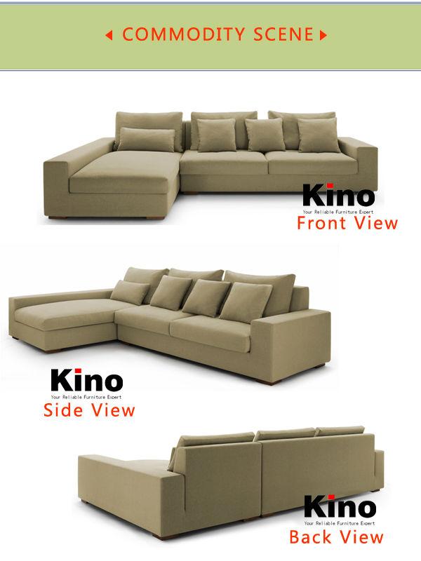 Modern Fabric Sofa Set L Shaped Corner Sofa In Living Room Furniture