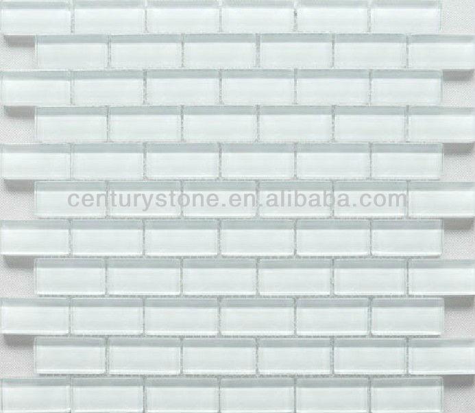 25 48mm rect ngulo brillante ladrillo de vidrio blanco for Marmol blanco turco caracteristicas
