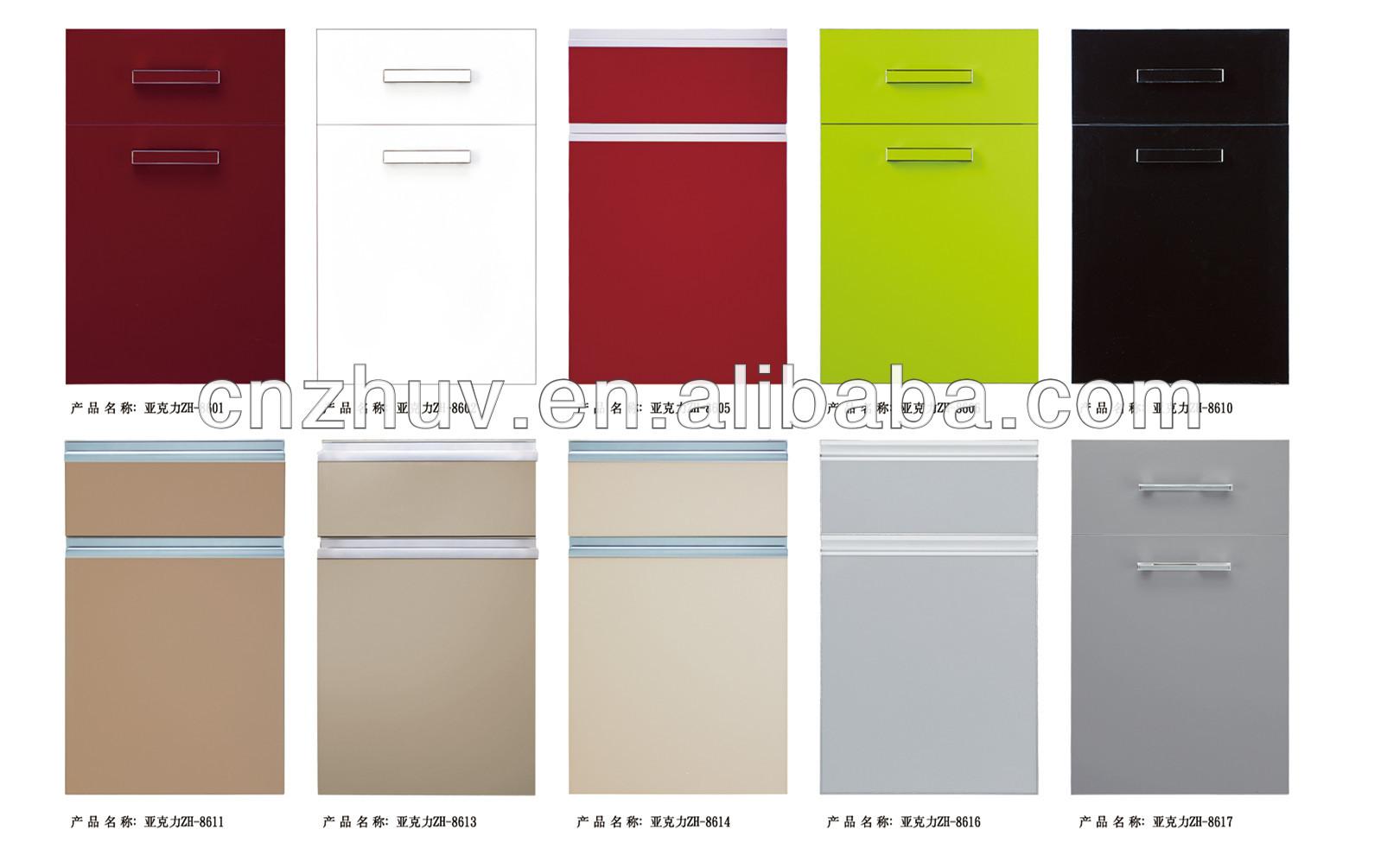 High Gloss Arcylic Wood Grain Kitchen Cabinet Doors (acrylic Sheet ...