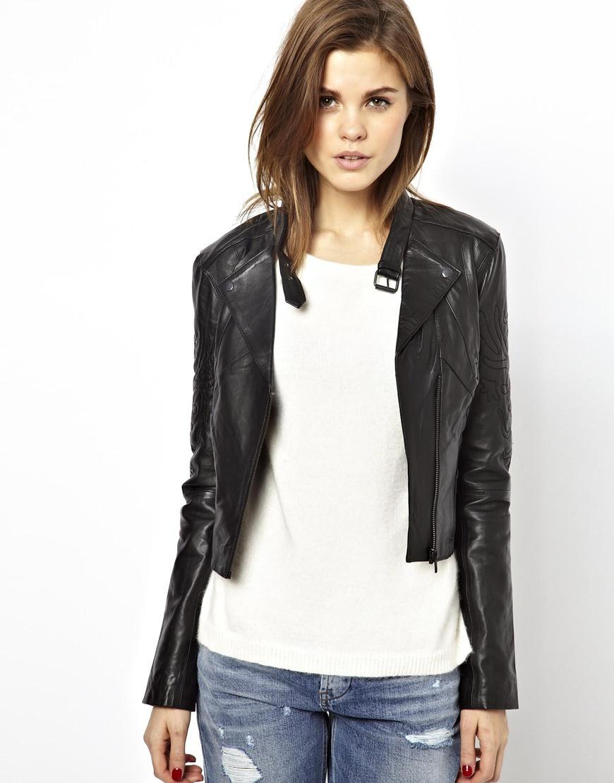 Hot Sale New Fashion And Style Women Jacket Thin Leather Jacket ...