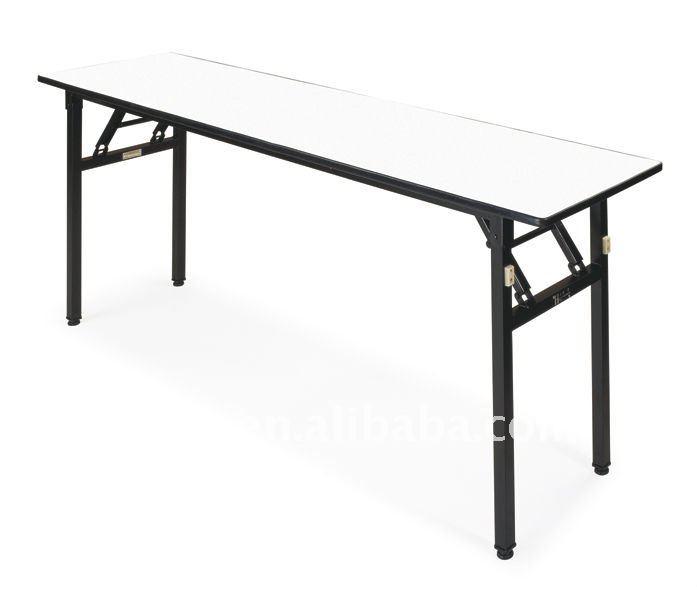Rectangular Folding Conference Table White E 009