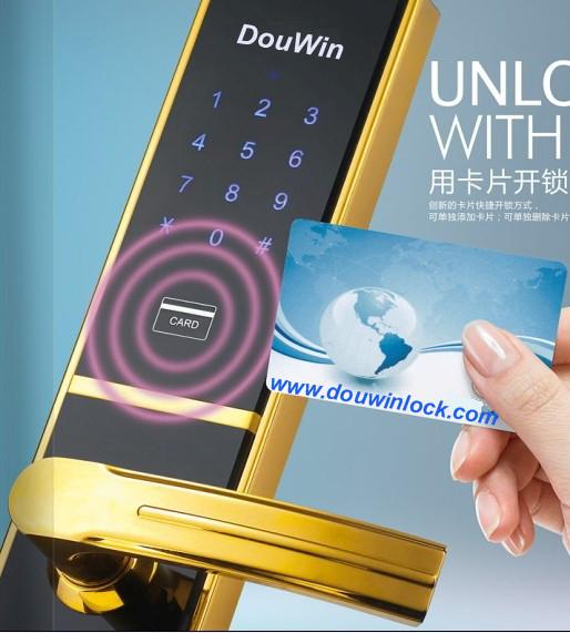elegance key code card wireless door lock