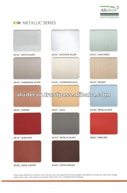 Metallic Blue Aluminium Composite Panel From Aludecor