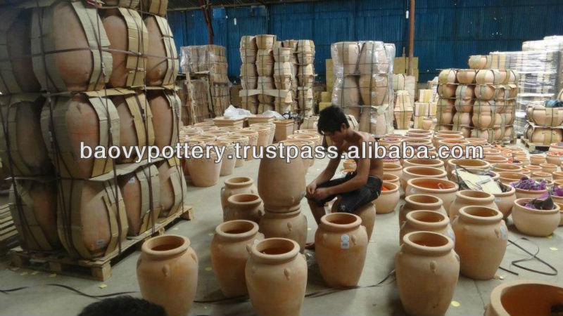 Rotondo satinato esterno in ceramica decorazione ceramica - Vasi ceramica esterno ...