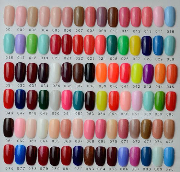 Nail Polish Chart: Hot Sale Soak Off Color Gel Polish Pure Color Uv Gel Nail