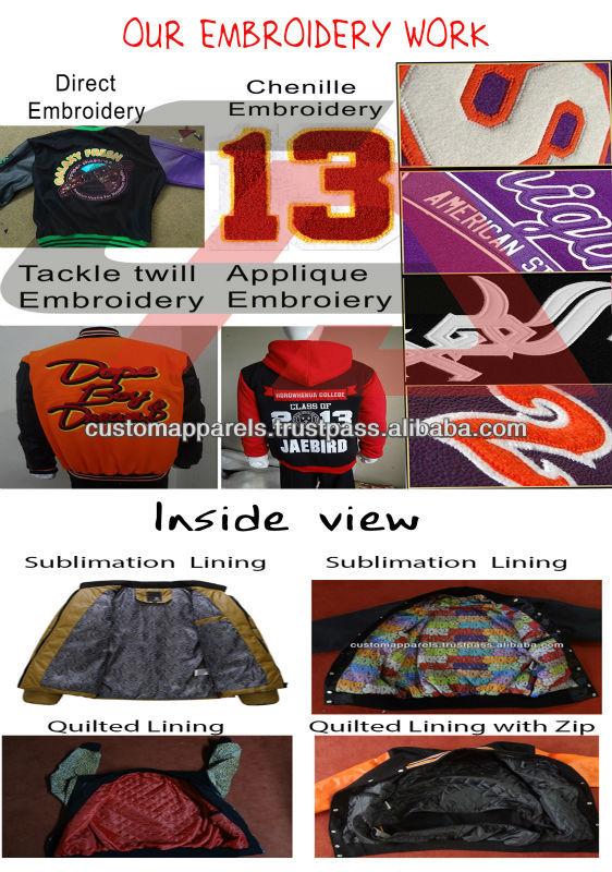 Unisex American Style Baseball Jackets Varsity University College ...