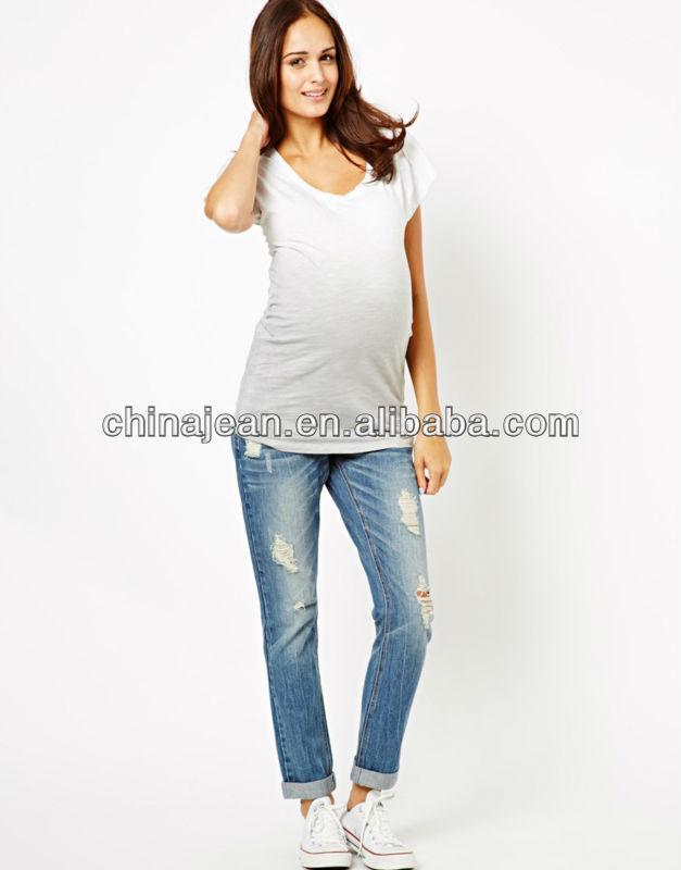 New Look Maternity Jeans Boyfriend Jean With Trim Jxp102 - Buy ...