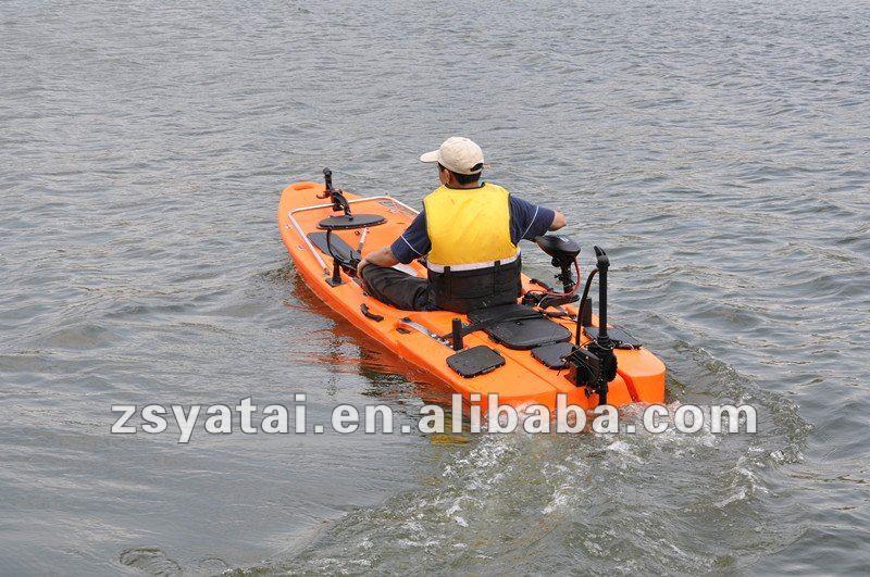 Haswing winix fishing kayak canoe with 40lbs motor for Fishing kayak with trolling motor