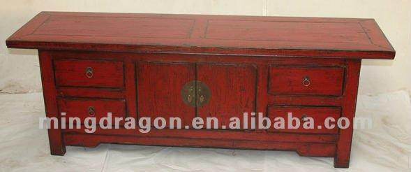 Muebles antiguos chinos azul rojo color de madera mueble for Muebles antiguos chinos