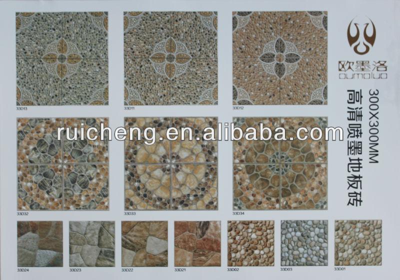 3d Digital Lapis Tiles Design For Garden Floor Tile 300*300mm