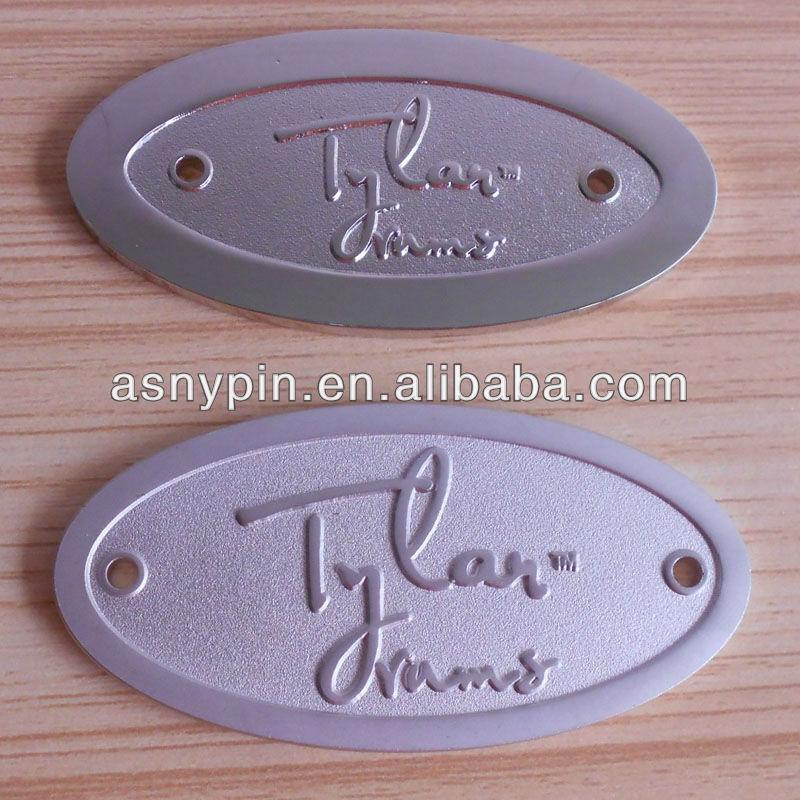 Antique Finished Brass Logo Plate Custom Metal Logo For