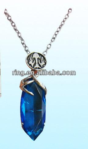 Anime final fantasy ff vii 7 magic stone pendant necklace blue anime final fantasy ff vii 7 magic stone pendant necklace blue mozeypictures Image collections