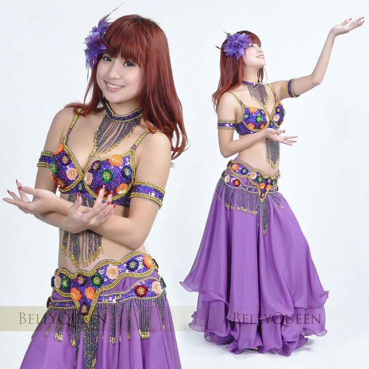 Profesional Púrpura Oscuro Trajes De Danza Del Vientre,Trajes De ...