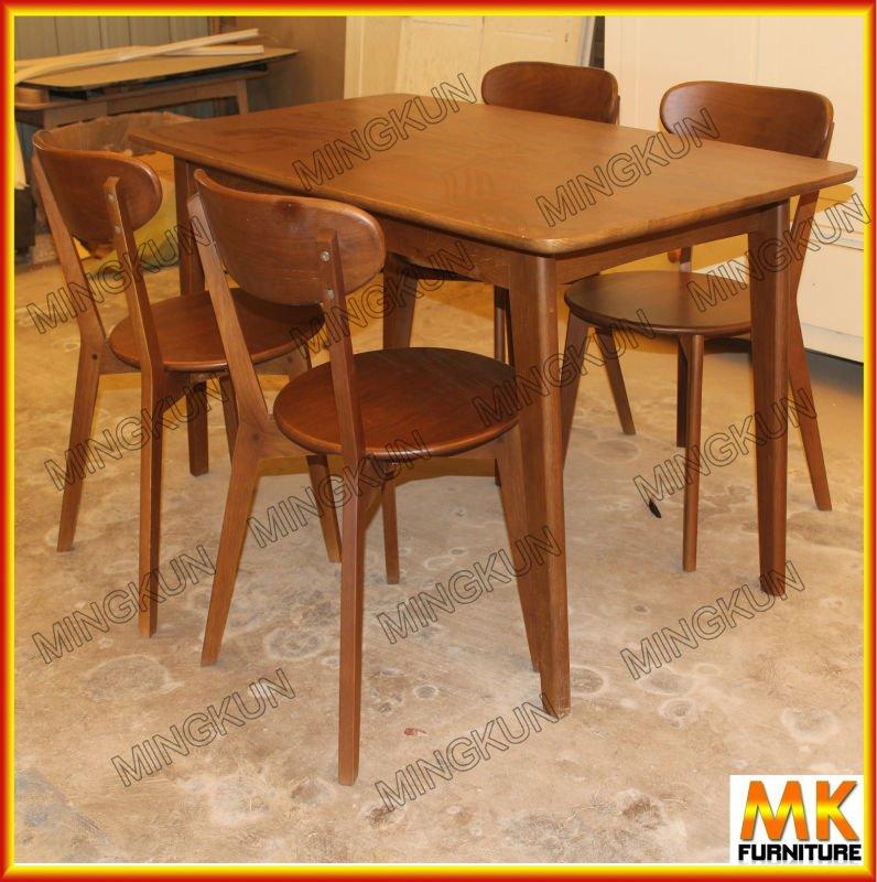 Mesa de madera maciza y sillas buy product on for Mesas de madera baratas precios