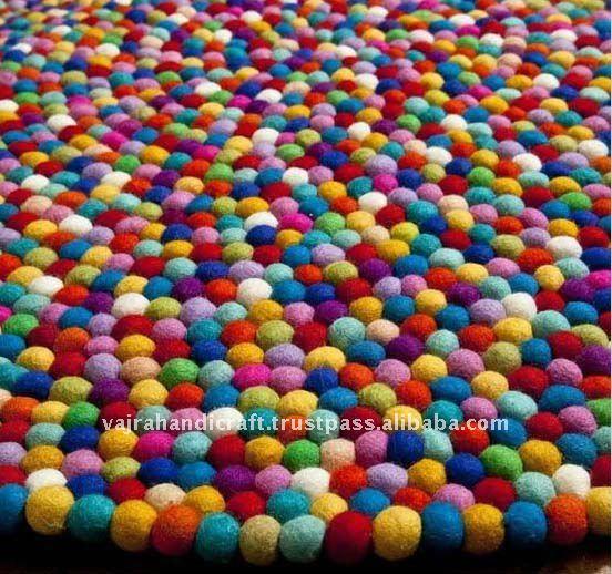 Felt Ball Rugs / Carpet