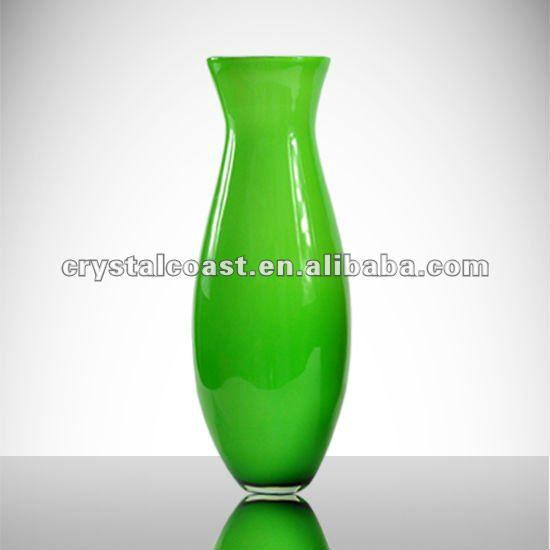 alta calidad moderna de cristal de murano barato alto soplado decorativo jarrones de cristal al por