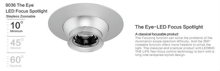 5w Black Eyeball Led Recessed Lighting Focusable For Interior Led ...